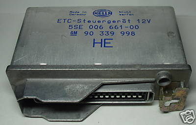 Opel ETC-Electronic control unit